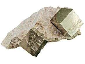 Pyrite Mineral Specimen Double Cube