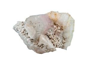Morganite And Aquamarine Mineral Spcimen 3 1/2x 2 1/2 inches Free Form