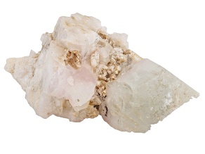 Morganite And Aquamarine Mineral Spcimen 2 7/8x1 inches Free Form