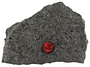 Almandine Garnet In Graphite Matrix 2.5x1.5 inch Mineral Specimen