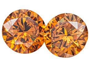 Lab Created Strontium Titanate 8mm Round Diamond Matched Pair 5.50ctw