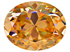 Lab Created Strontium Titanate 3.60ct 10x8mm Oval Faceted Created Loose Gemstone