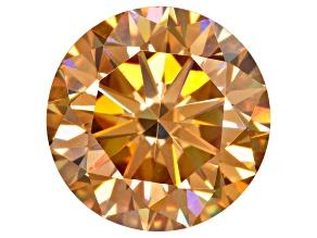 Champagne  Fabulite Strontium Titanate 9mm Round Diamond Cut 3.60ct