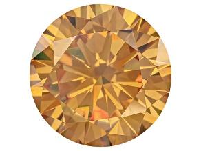 Fabulite Strontium Titanate Champagne 12mm Round Diamond Cut 9.00ct