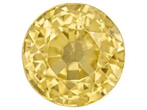 Yellow Sapphire 5.5mm Round 1.00ct