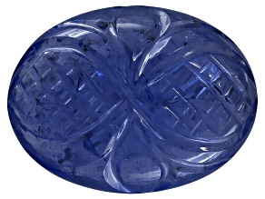 Tanzanite Oval Cabochon Carved 6.00ct