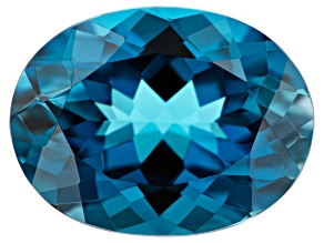 10.30ct min wt. London Blue Topaz 16x12mm Oval