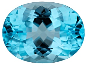 11.00ct min wt. Sky Blue Topaz 16x12mm Oval