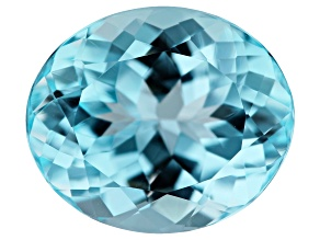 5.95ct min wt. Sky Blue Topaz 12x10mm Oval