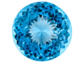9.57ct Swiss Blue Topaz 13.5mm Round