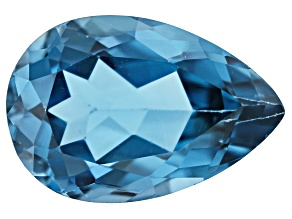 London Blue Topaz 15x12mm Pear Shape 8.13ct