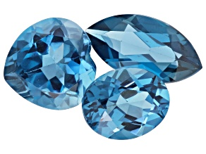 London Blue Topaz Mixed Shape Set of 3 11.02ctw