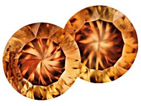 Orange Topaz 8.1mm Round 4.29ctw