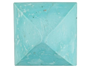 Turquoise 12mm Square Sugarloaf Cut 10.00ct