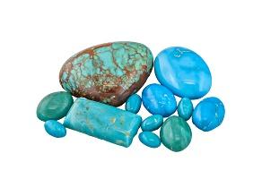 Turquoise Mixed Shape Cabochon Parcel 40.00ctw