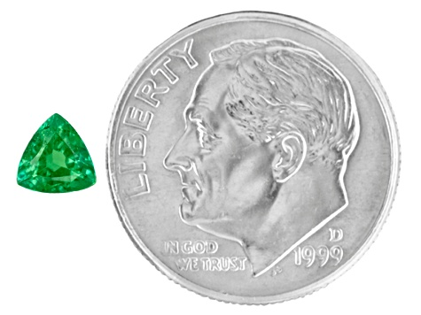 Green Garnet Tsavorite 4.8mm Trillion .35ct