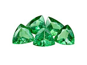 Green Garnet Tsavorite 4.8mm Trillion 1.69ct