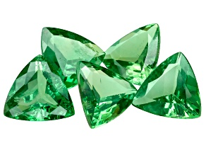 Tsavorite Garnet 4.8mm Trillion Set of 5 1.63ctw