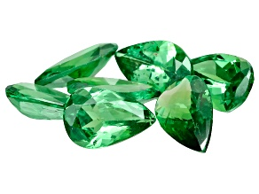Tsavorite Garnet Pear Shape Set of 7 2.26ctw