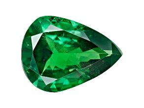 Green Garnet Tsavorite 9.0x6.5mm Pear 1.27ct