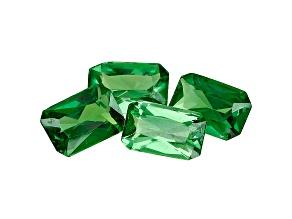 Green Garnet Tsavorite 6x4mm Emerald Cut 1.92ct