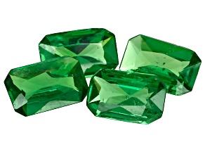 Green Garnet Tsavorite 6x4mm Emerald Cut 1.64ct