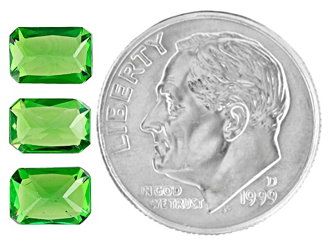 Green Garnet Tsavorite 6.5x4.5mm Emerald Cut .70ct