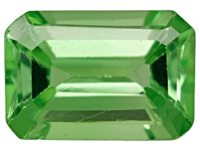 Green Garnet Tsavorite 6x4mm Emerald Cut .50ct