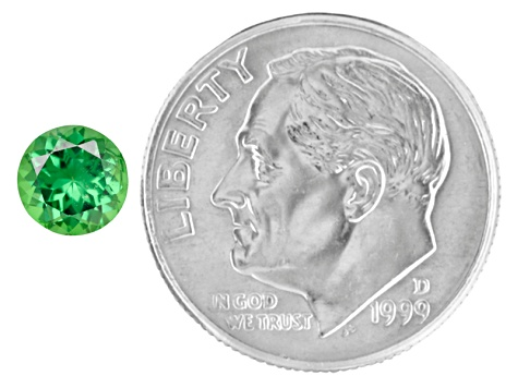 Green Garnet Tsavorite 5.5mm Round .60ct