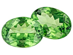 Tsavorite Garnet Matched Pair 7.5x5.5mm Oval 2.02ctw