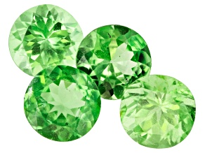 Tsavorite Garnet 5.5mm Round Set of 4 2.62ctw
