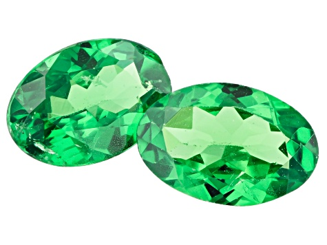 Tsavorite Matched Pair 6x4mm ovals 0.90ctw