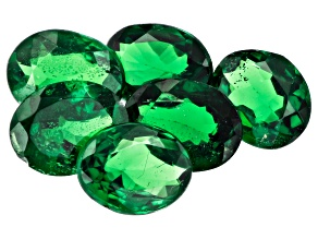 Tsavorite 5x4mm Ovals Set of 6 1.76ctw