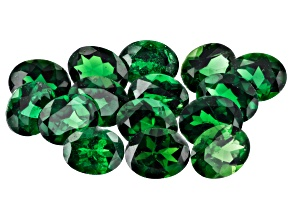 Tsavorite 5x4mm Ovals Set of 15 4.80ctw
