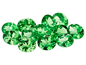 Tsavorite 5x4mm Ovals Set of 12 3.98ctw