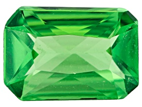 Tanzanian tsavorite garnet minimum 0.60ct 6.5x4.5mm rectangular octagonal radiant cut