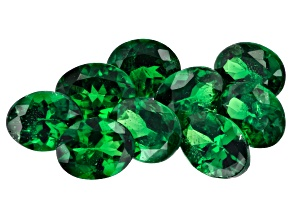 Tsavorite 5x4mm Ovals Set of 9 3.18ctw