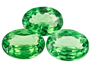 Tsavorite Garnet Oval Set of 3 2.35ctw