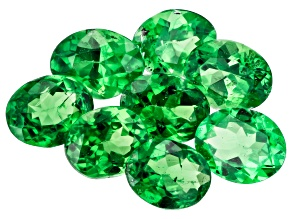 Tsavorite MM Varies Ovals Set of 8 2.61CTW