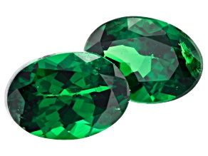 Tsavorite Matched Pair 6.5x4.5mm Oval 1.50ctw