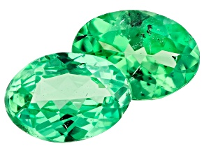 Tsavorite Garnet Matched Pair 7x5mm ovals 1.43ctw