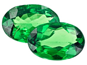 Tsavorite Matched Pair 6.5x4.5mm Oval 0.86ctw