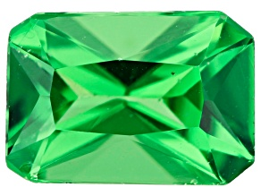 Tsavorite Garnet 6.5x4.5mm Rectangular Octagonal Radiant Cut 0.87ct