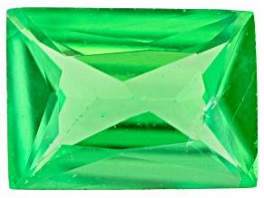 Tsavorite Garnet 6.5x4.5mm Rectangle Radiant Cut 0.68ct