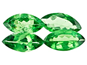 Tsavorite 8x4mm Marquise Set of 4 1.83ctw