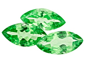 Tsavorite 8x4mm Marquise Set of 3 1.77ctw