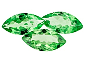 Tsavorite 8x4mm Marquise Set of 3 1.53ctw