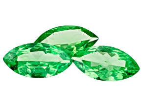 Tsavorite 8x4mm Marquise Set of 3 1.48ctw