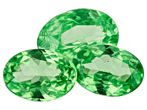 Tsavorite Garnet Oval Set of 3 2.14ctw