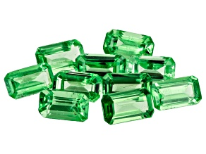 Tsavorite 5x3mm Rectangular Octagonal Set of 10 2.95ctw